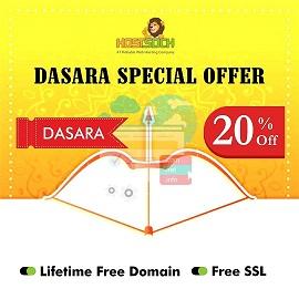 Dussehra Sale - Exclusive Flat 20% Off On all Hosting Plans